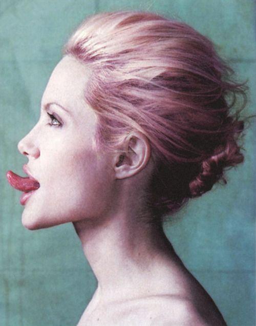 Angelina Jolie With Pink Hair Vintage I Like It Ppl Angelina