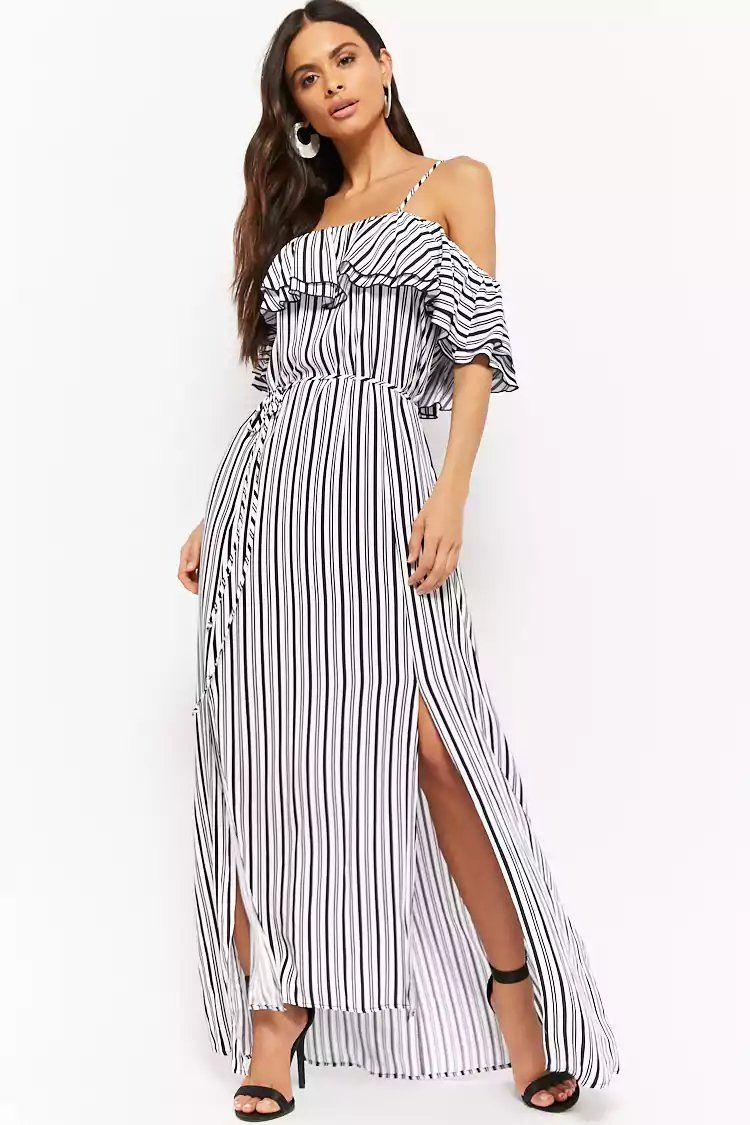 b85d4b1c3081 Product Name Striped Off-the-Shoulder Maxi Dress