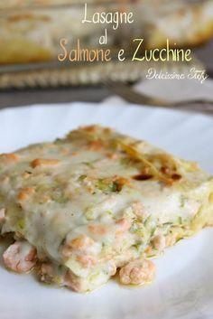 Lasagne al Salmone e Zucchine,ricetta - Dolcissima Stefy