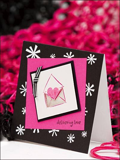 Greeting Card - Love Card & Valentine Designs - Delivering Love Card Design - Free Card-making Design