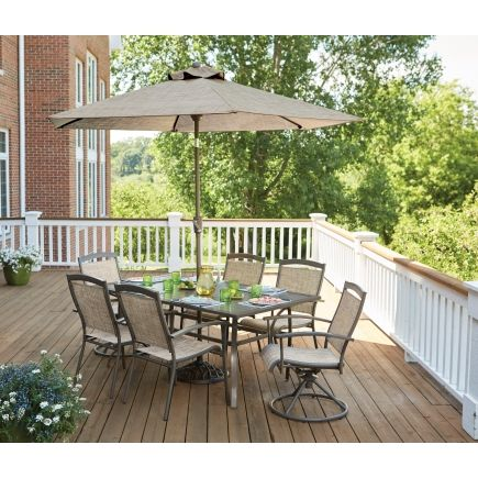 Living Accents Colma Dining Set 7 Pc All Patio Collections Ace Hardware