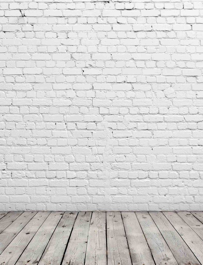 Senior White Stucco Brick Wall With Old Wood Floor Texture