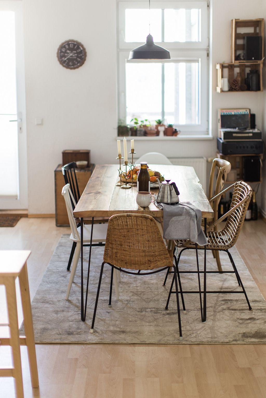 Ein Kuchen Update Dank Neuen Teppich Und Esstisch Zuhause Wohnen Esszimmer Dekor Ideen