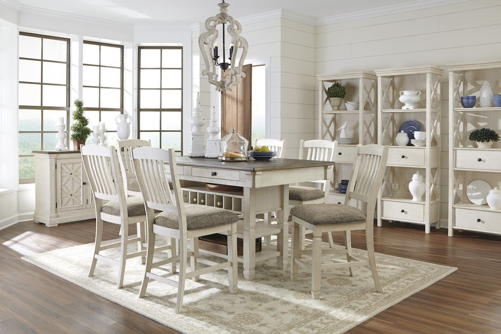 ashley  bolanburg d647  counter height dining room table