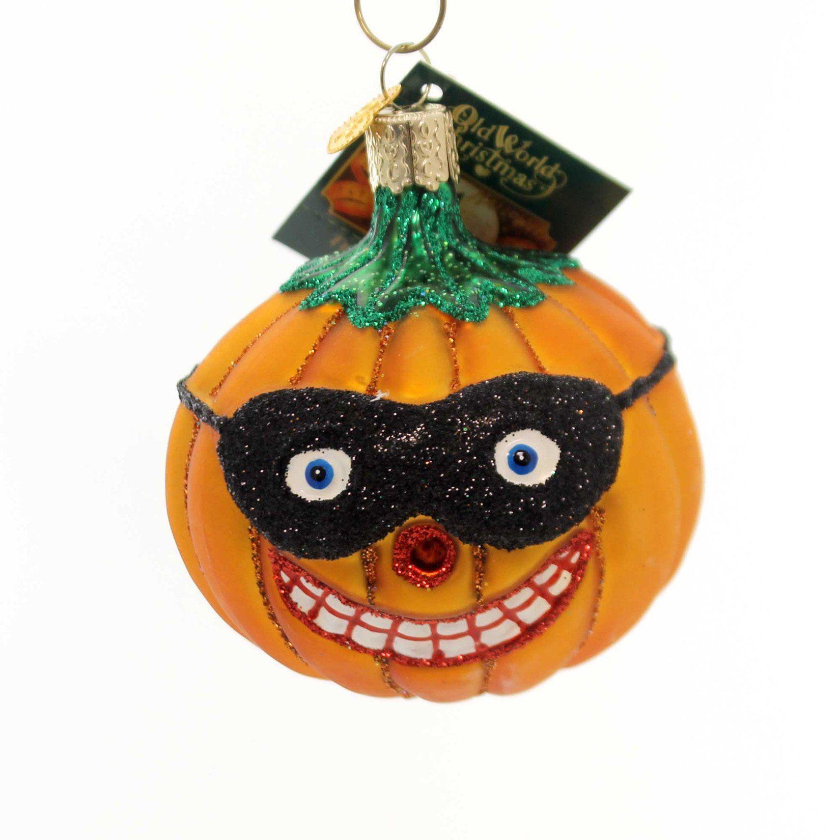 Old World Christmas MASKED JACK O'LANTERN Ornament Pumpkin