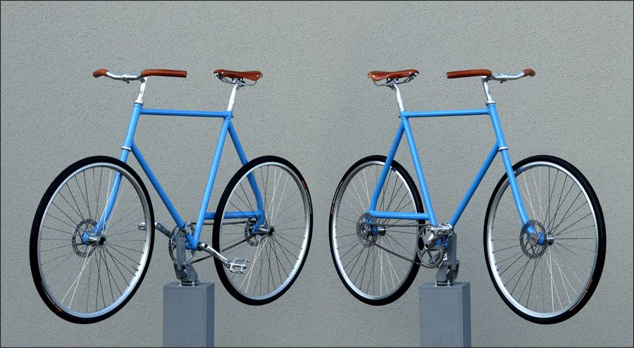 No-Fork project, bicycle geometry hacked