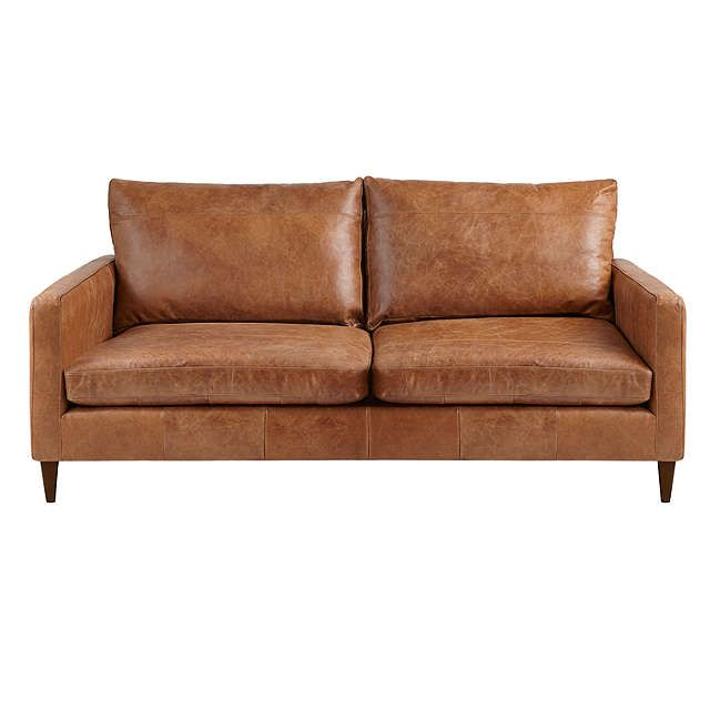 John Lewis Partners Bailey Medium 2 Seater Leather Sofa Luster Cappuccino At John Lewis Partners Leather Sofa Bed Small Leather Sofa Large Leather Sofas