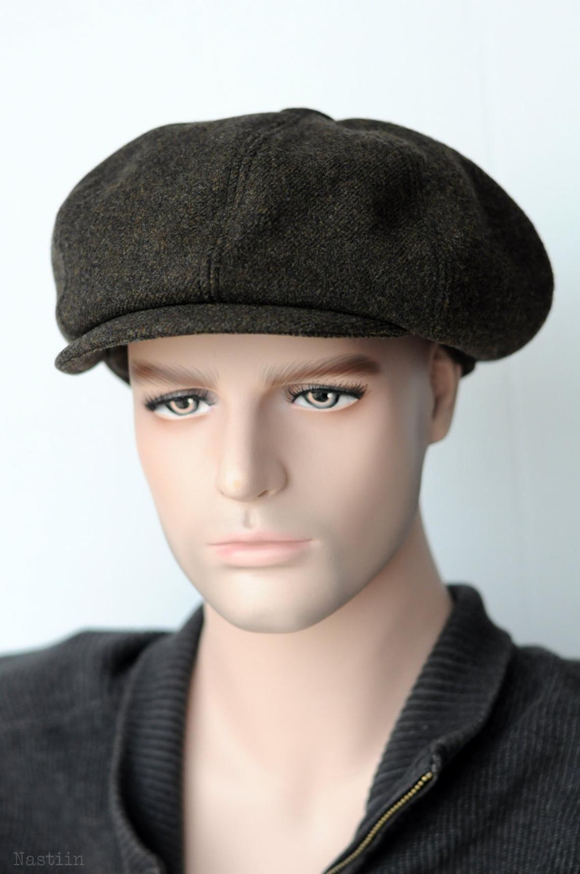 2341a6713b43d Mens newspaper boy hat Wool newsboy cap Khaki newsboy hat Womens ...