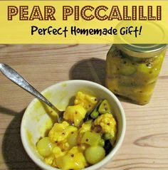 From Craft Invaders. Piccalilli is a pickle made from chopped vegetables, mustard, and hot spices.This Autumn Pear version is both sweet and tangy, and absolutely delicious - full, easy to follow recipe.