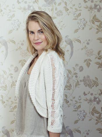 Naisen neulebolero Novita Eco Cotton