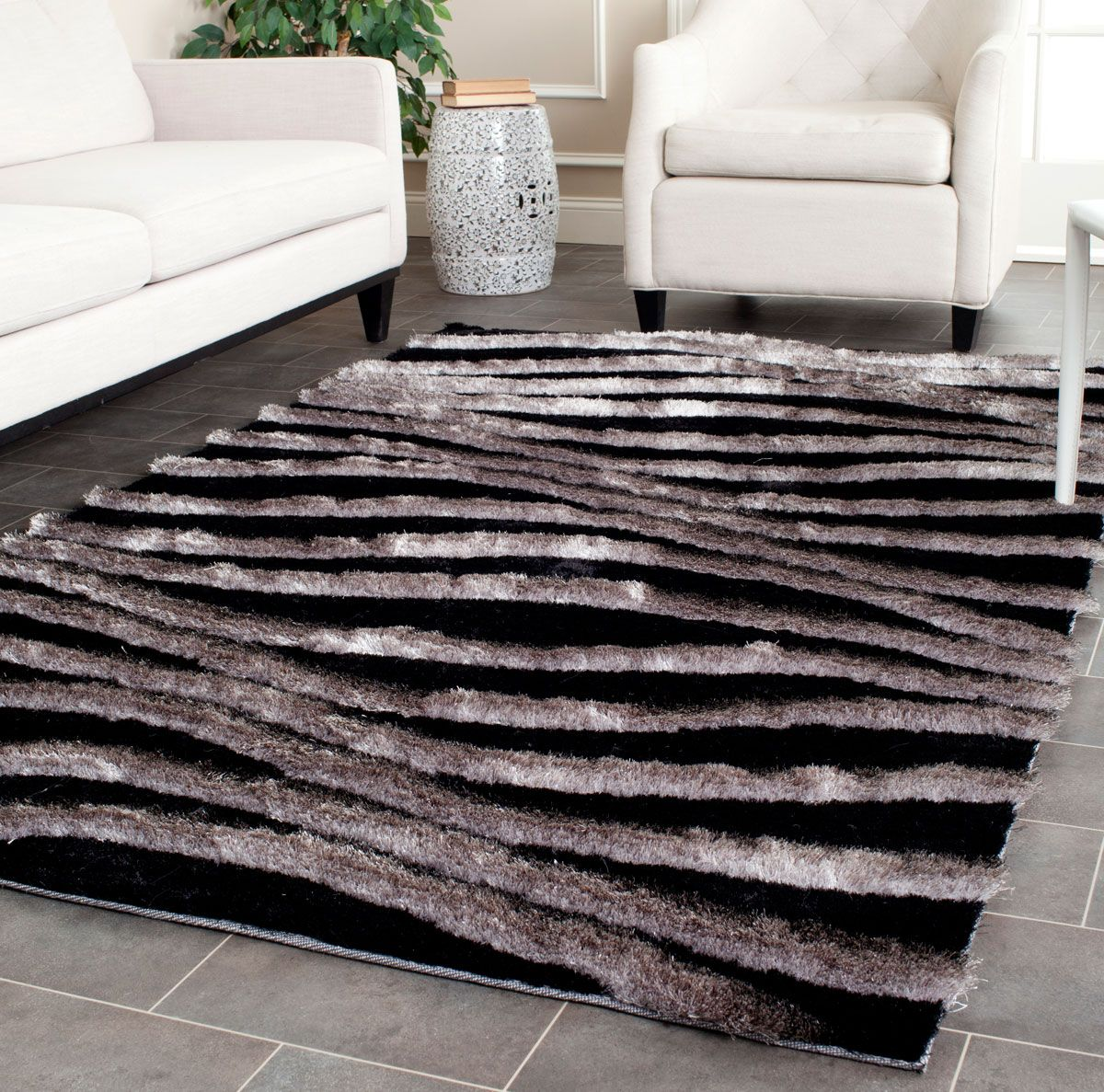 Grey 3d Shag In 2020 Black Grey Rugs Area Rugs Rugs