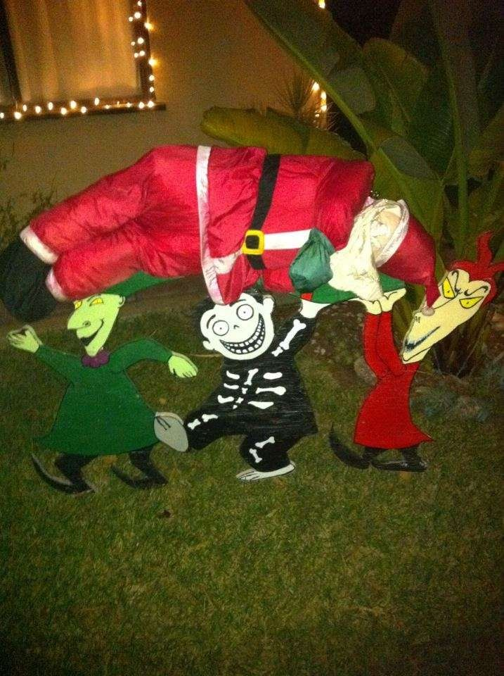 image result for nightmare before christmas outdoor decorations