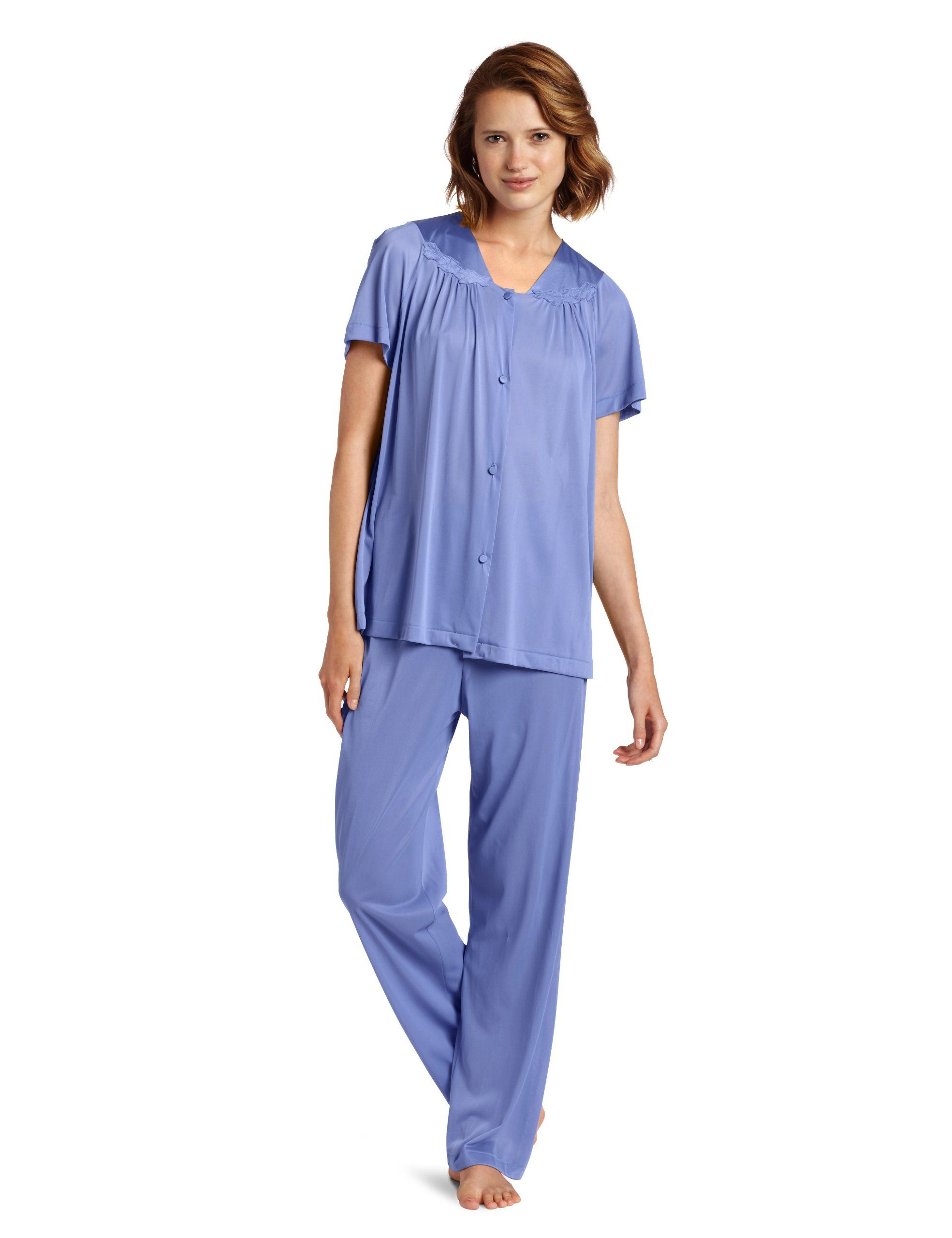 8661247f5c Any soft cotton Short Sleeve button down Pajama Set - you might live in it  for a while and perfect at the hospital and home for nursing