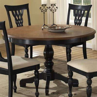 Hillsdale furniture 4808dtb48 embassy round pedestal dining table ...