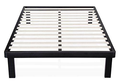 Olee Sleep 14Inch Tall Dura Metal Wood Slat King Bed Frame ...