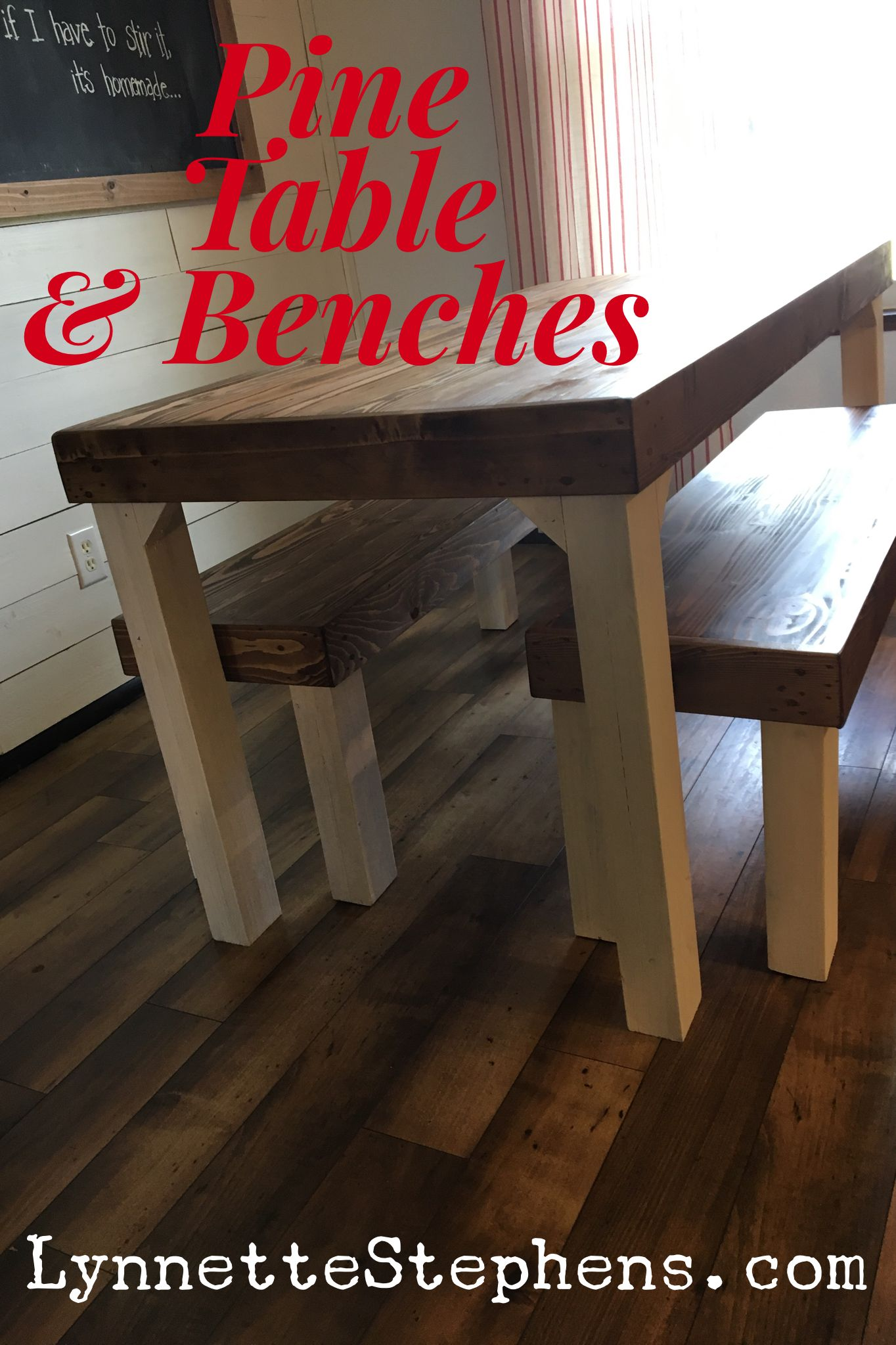You Can Make A Table Benches Like This Using 2x6 Pine Or Douglas Fir For The Table Top And Ben Diy Farmhouse Table Kitchen Table Bench Coffee Table Farmhouse