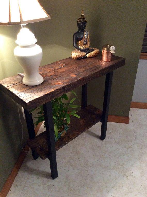 Entryway Table Foyer Table Console Table Rustic Table En 2018 - Mesa-de-recibidor