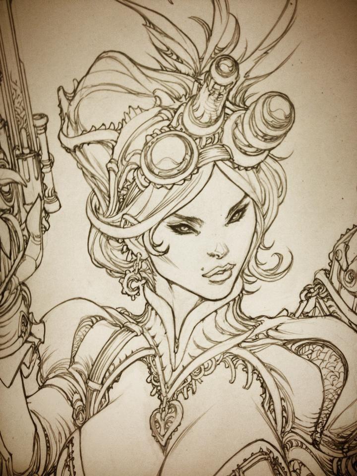Lady Mechanica detail by Paolo Pantalena