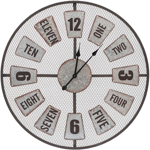 Industrial Style Wall Clock Wall Clock Numbers Industrial Style Wall Clock