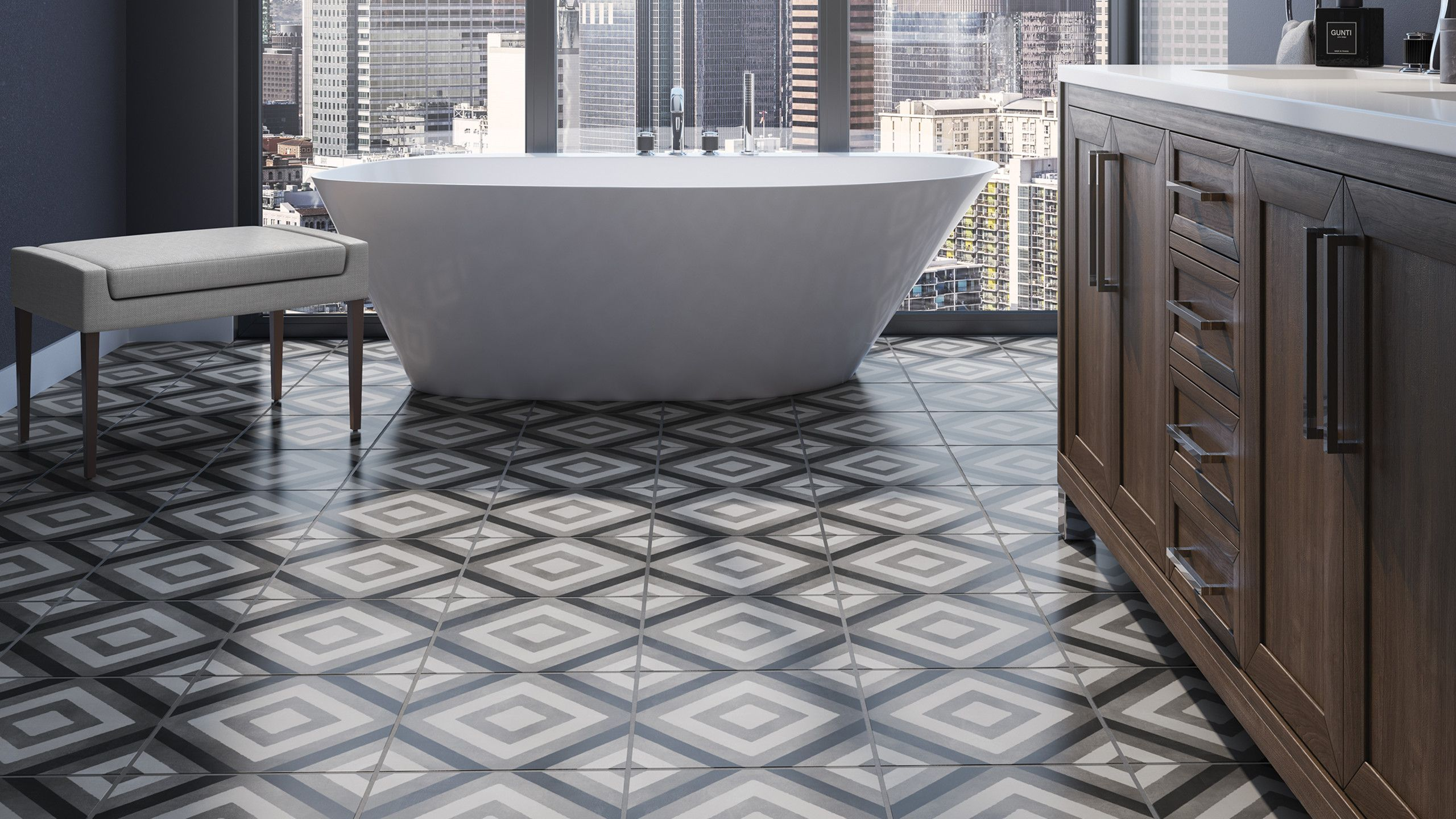 Chateau 12 X 24 Floor Wall Tile In Ocean Decorative Tile Kitchen And Bath Design Modern French Interiors