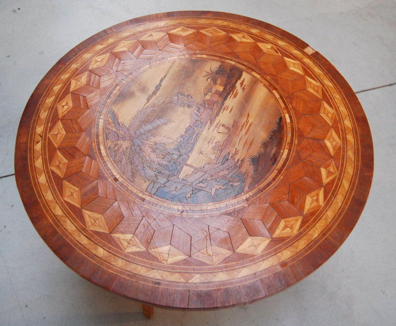 Tavolino etnico ~ Tavolino intarsiato etnico madagascar diametro cm diverse