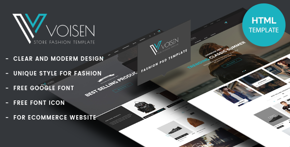 Download Free Voisen - Responsive eCommerce Fashion Template ...