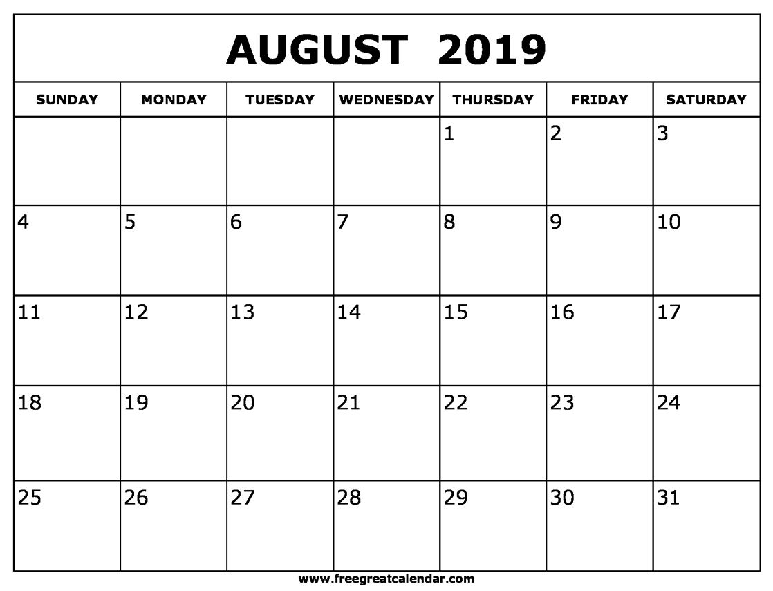 Collect September Monthly Printable Calendar August 2019