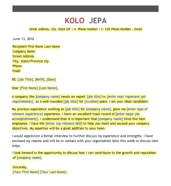Cover Letter Sample  HttpResumesdesignComCoverLetter