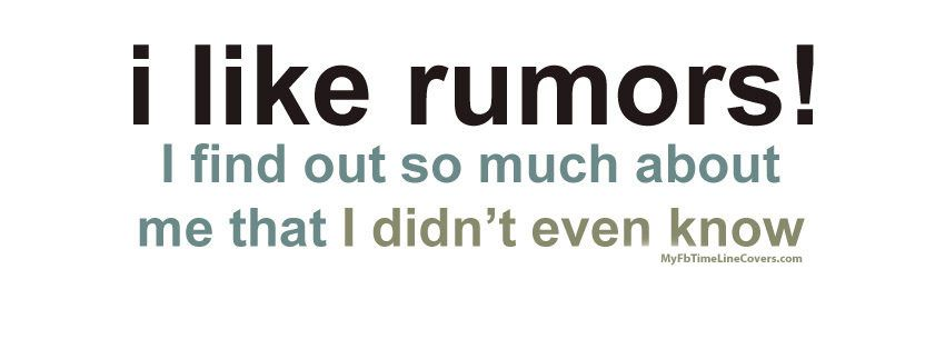 I Like Rumors Facebook Cover We Have The Large Collection Of I Like