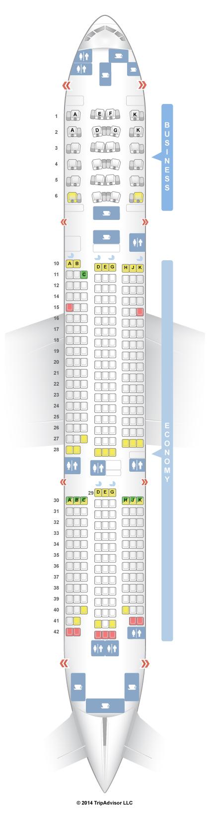 Seatguru Seat Map Asiana Boeing 777 200er 772 V2 Seatguru