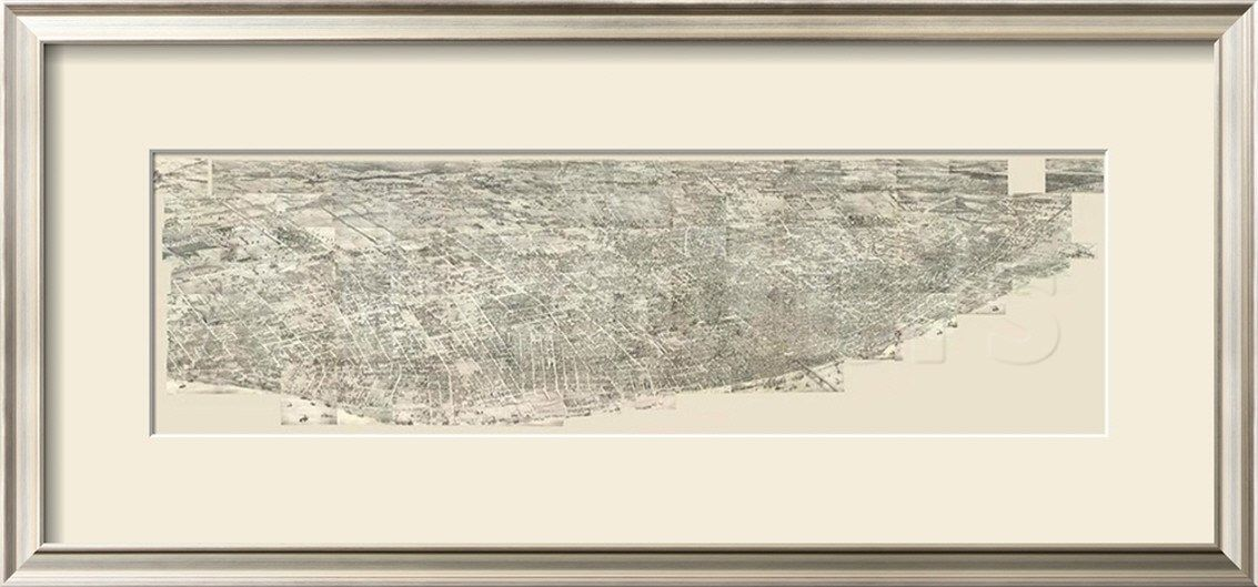 Composite Pictorial of St. Louis, c.1876 Framed Giclee Print by Richard J. Compton at AllPosters.com