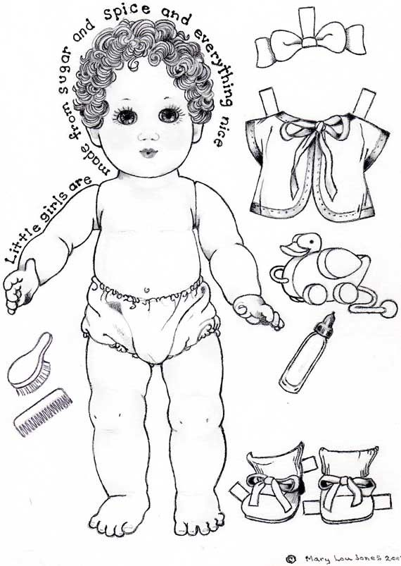 Page one of Baby Paper Doll | Vintage paper dolls, Paper ...