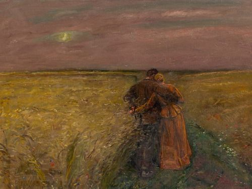 "loumargi: "" Ludwig Dettmann (1865-1944), Couple in Landscape, Oil, c. 1910 """