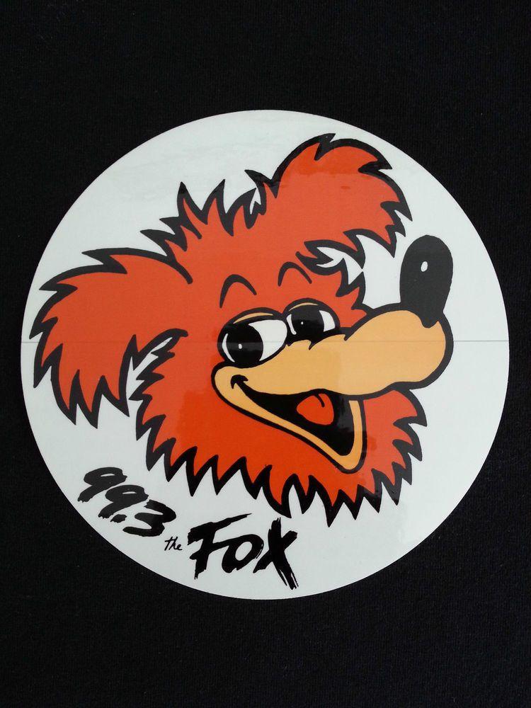 Sticker C Fox Decal 99 3 Fm Station 1991 Clear Auto Radio Heavy