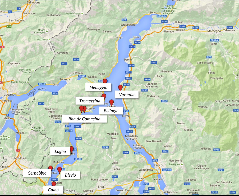 Mapa Lago Di Como.Mapa Lago Di Como Cidades O Que Fazer Onde Ficar Italia Y
