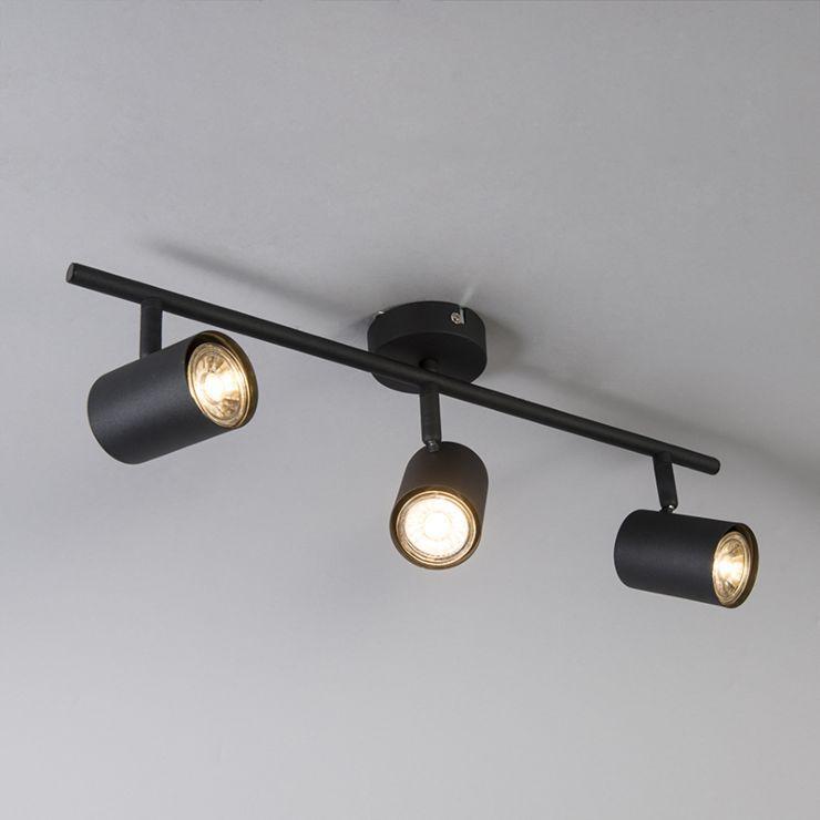 Industriele Spot Zwart Kantelbaar Jeana 3 In 2020 Lampen Spotjes Verlichting Muur Verlichting