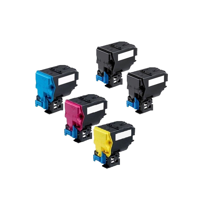N 1 Set + 1 BK Compatible A0X5132 A0X5432 A0X5332 A0X5232 Toner Cartridge For QMS Bizhub C35 C35P