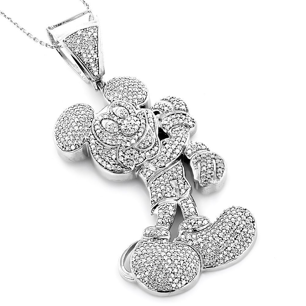 This whimsical diamond necklace features a 10 karat gold cartoon this whimsical diamond necklace features a 10 karat gold cartoon mouse figure studded with masterfully aloadofball Gallery