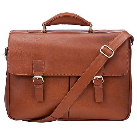 2025f7b5c3a2 Buy John Lewis Strasbourg Leather Briefcase, Tan Online at johnlewis ...