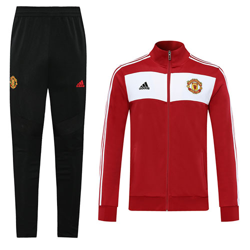 20 21 Manchester United Red Retro High Neck Collar Training Kit Jacket Trouser Cheap Socc In 2020 Manchester United Shirt Manchester United Jacket Manchester United