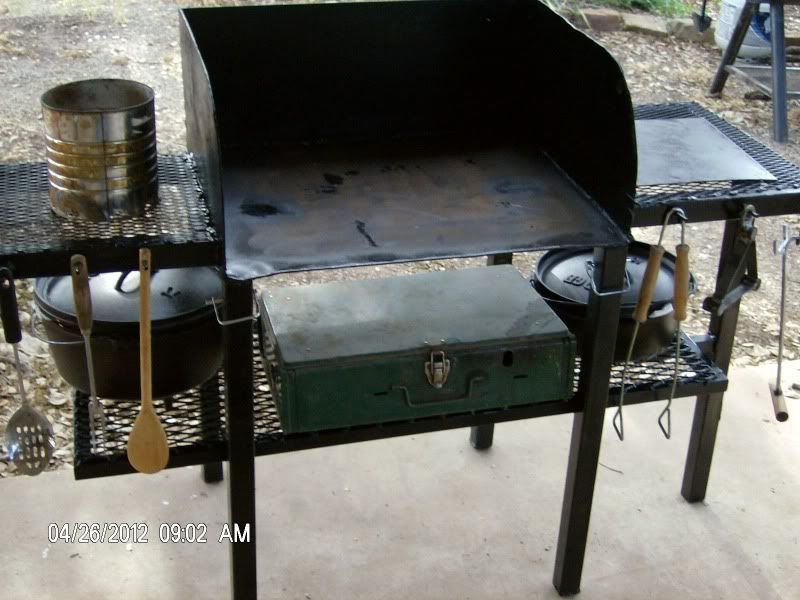 Making Dutch Oven Cooking Table Dutch Oven Cooking Table
