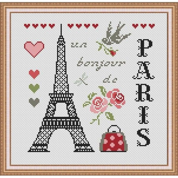 balade a paris au point de croix pesquisa do google cross stich pinterest a paris. Black Bedroom Furniture Sets. Home Design Ideas