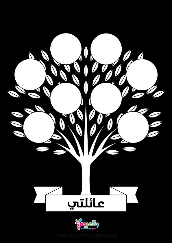 أوراق عمل شجرة العائلة للأطفال ورقة نشاط شجرة عائلتي بالعربي نتعلم In 2021 Family Tree Tree Family Members