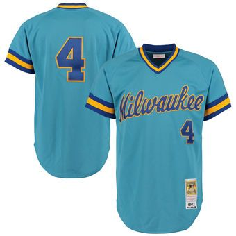 finest selection 89c9e 28848 Men's Milwaukee Brewers 1982 Paul Molitor Mitchell & Ness ...
