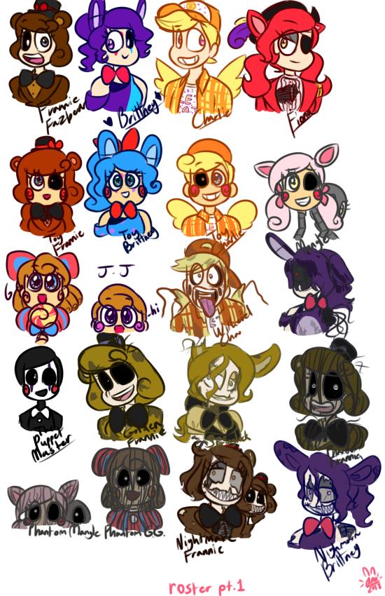 Gender bent fnaf ultimate custom night roster part 1
