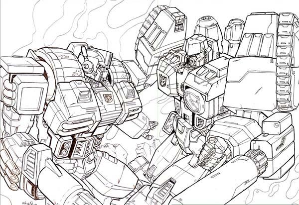 Optimus Prime Vs Megatron Coloring Page Netart Megatron Optimus Prime Vs Megatron Transformers Coloring Pages
