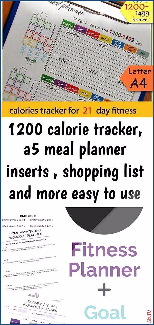 1200 calorie tracker a5 meal planner inserts shopping list and more easy to use 21 day diet pl 34 12...