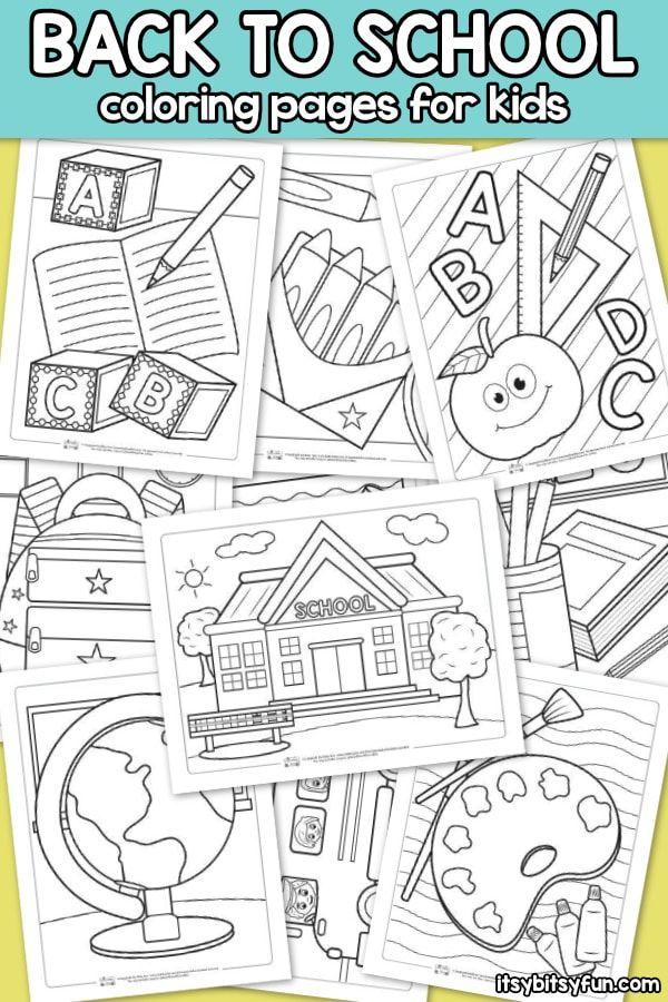 Back to School Coloring Pages for Kids en 2018 | Krāsojamās lapas ...