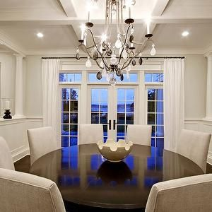 Paul Moon Design  Dining Rooms  French Doors Transom Windows Extraordinary Round Dining Room Table Seats 8 Inspiration Design