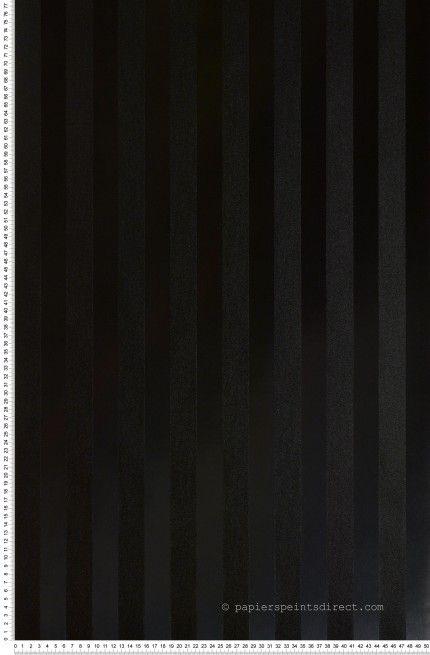 Rayures noires satinées 32mm - Papier peint Rayures and Co 2 de Lutèce